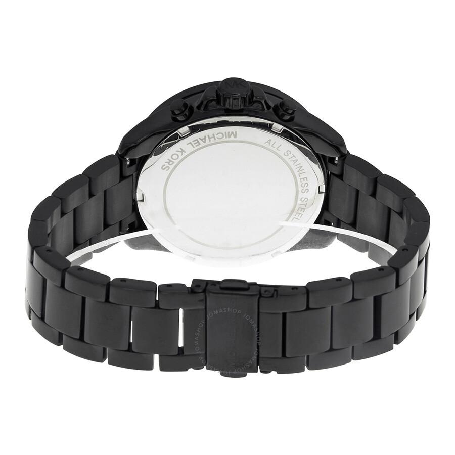 1cfb4bf1bf826f Michael Kors Wren Chronograph Crystal Pave Dial Black Ion plated on ...