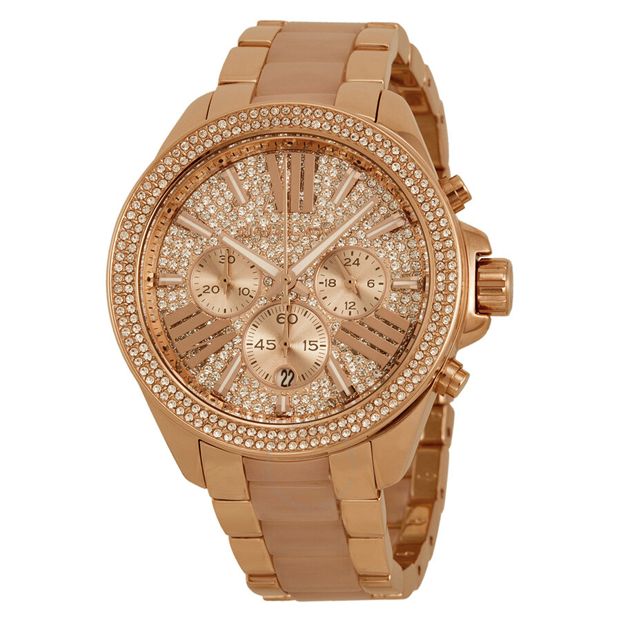 5da90ab678c9 Michael Kors Wren Crystal Pave Dial Chronograph Ladies Watch MK6096 ...