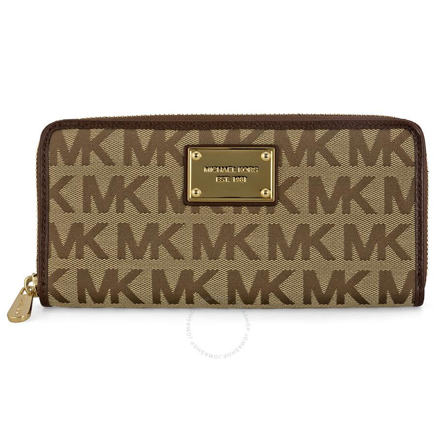 2b45f46848c5 Michael Kors ZA Continental Mocha Logoed Fabric Continental Wallet Item No.  MK32S12JSE3J-246
