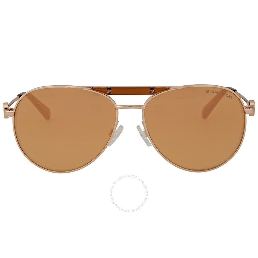 939317bd69725 Michael Kors Zanzibar Aviator Sunglasses - Rose Gold Flash Item No.  0MK5001-1003R1-58