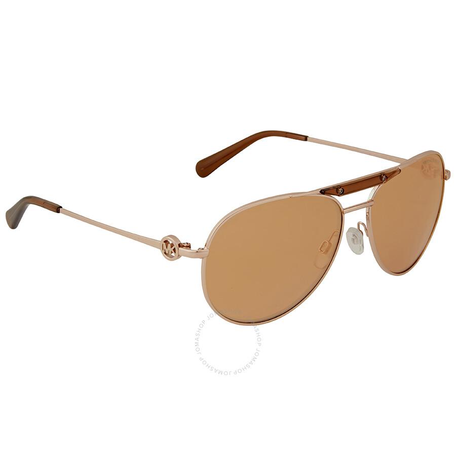 917f1fb24ea38 Michael Kors Zanzibar Aviator Sunglasses - Rose Gold Flash - Michael ...