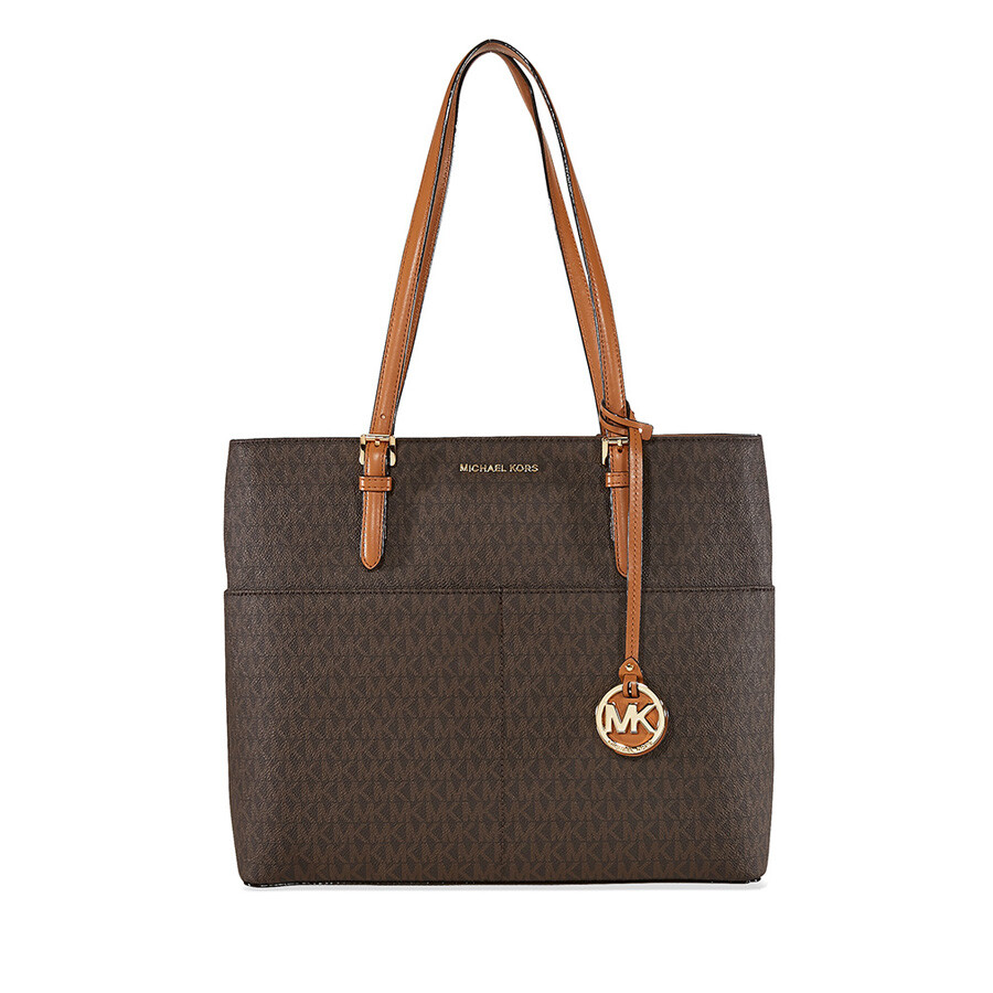 6f12dc0bdbef9 ... official michael kors bedford large pocket tote brown 6c65d 7e27b