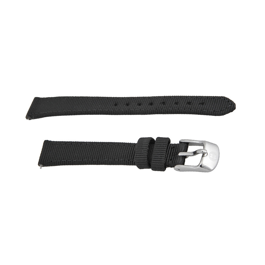 8f955753a Michele Black Grosgrain Leather 12mm Strap 12AC1000001 - Watch Bands ...