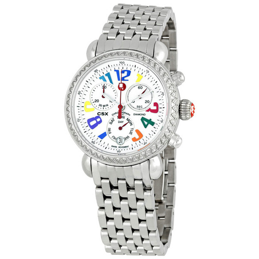 fc5f42690 Michele Carousel CSX Diamond Bezel Ladies Watch