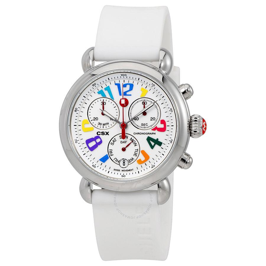 7884da6b16 Michele CSX 36 Carousel White Silicon Ladies Watch MWW03M000090 ...