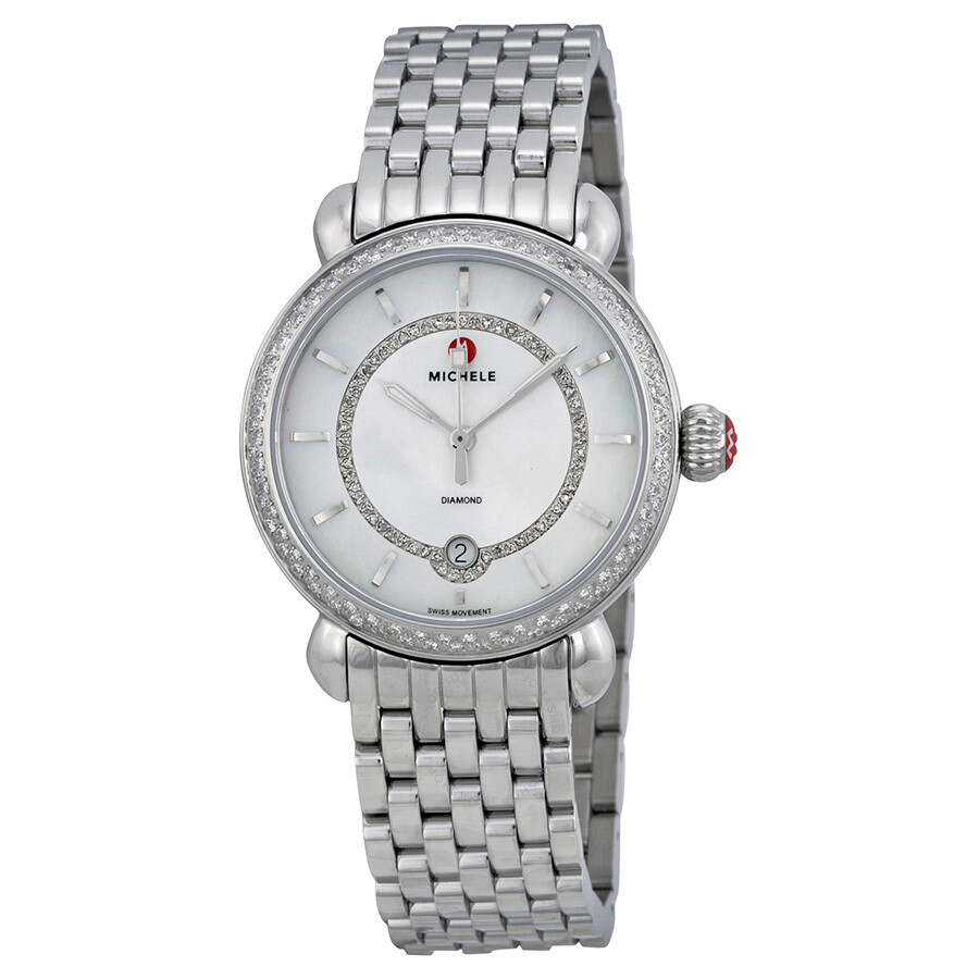 Michele Csx Elegance Stainless Steel Ladies Watch Mww03t000035