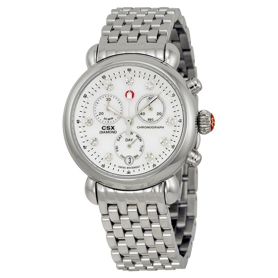 michele csx of pearl chronograph