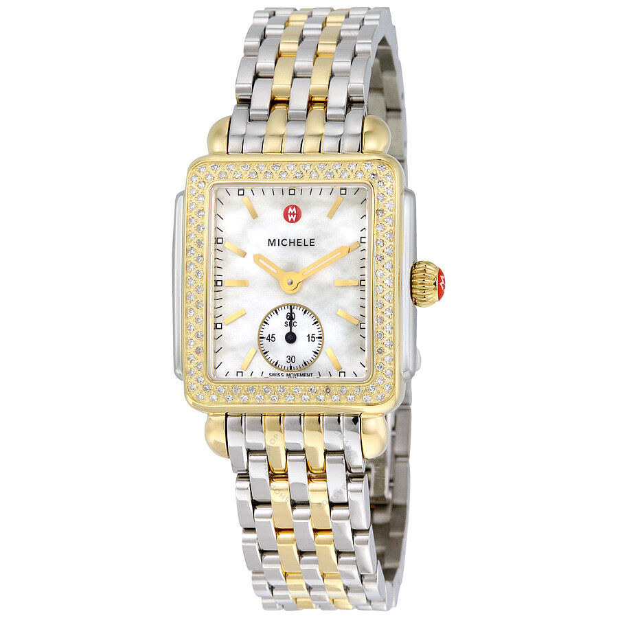 ede83003f2ed12 Michele Deco 16 White Mother of Pearl Dial Ladies Watch