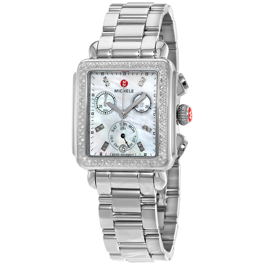 Mon Coach Deco michele deco day mother of pearl stainless steel ladies watch mww06p000110