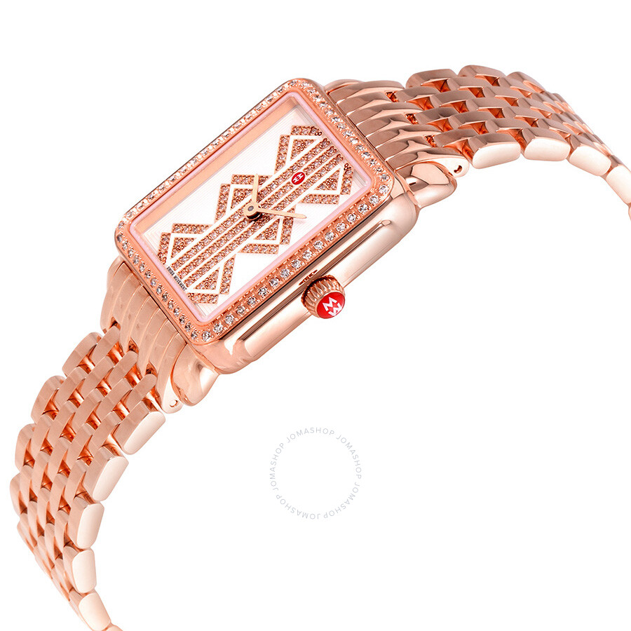 michele deco ii mid rose gold tone ladies watch. Black Bedroom Furniture Sets. Home Design Ideas