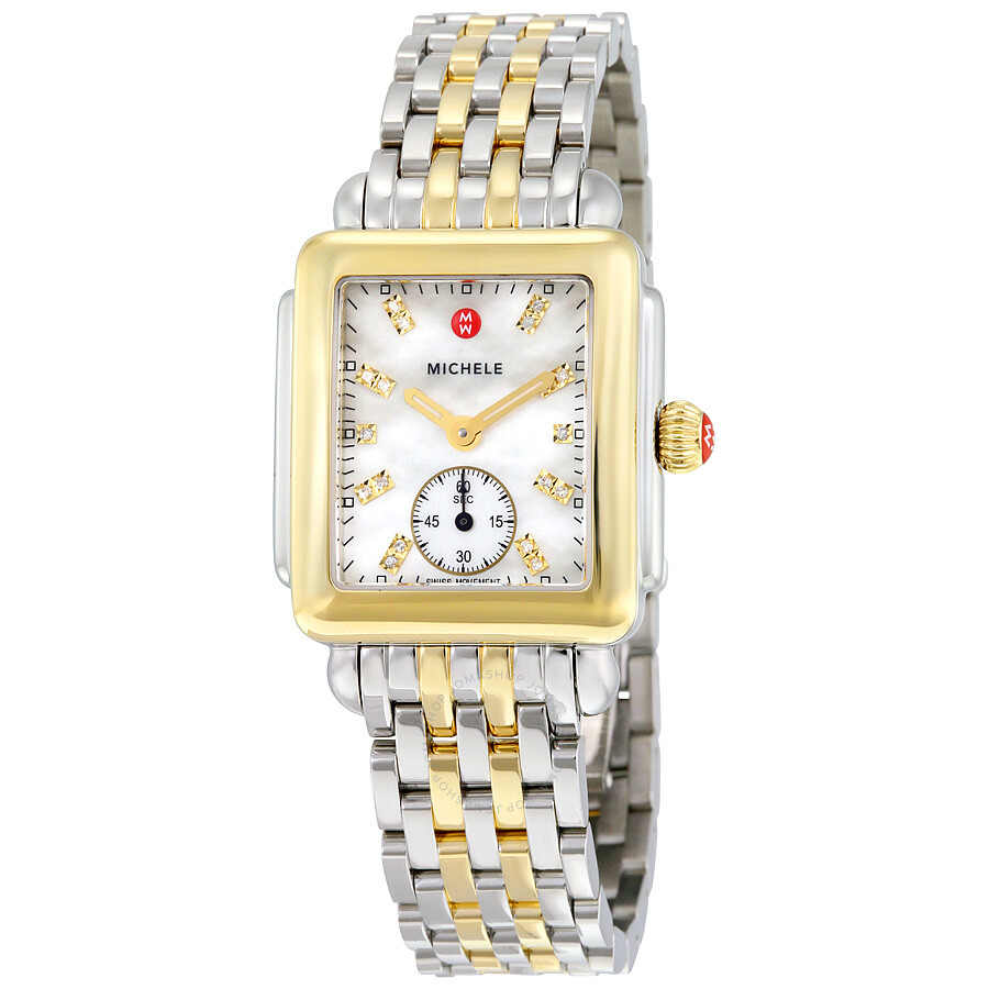 bf5a5367b Michele Deco Mother of Pearl Dial Two-tone Ladies Watch
