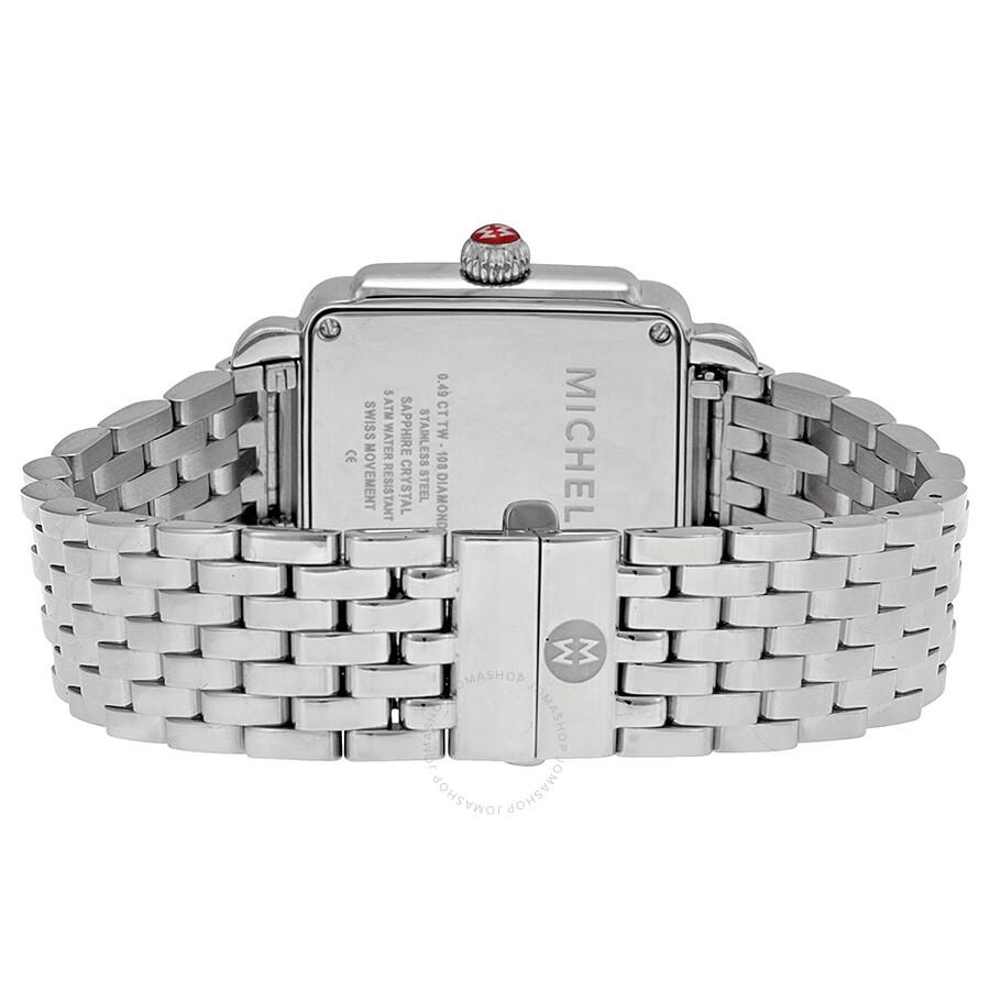 Deco White Pearl Diamond Bezel Ladies Watch MWW06V000041