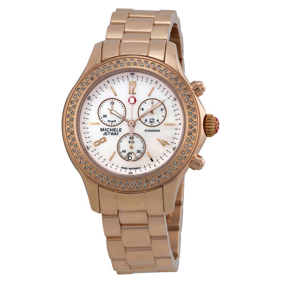 Michele Jetway Diamond Watch
