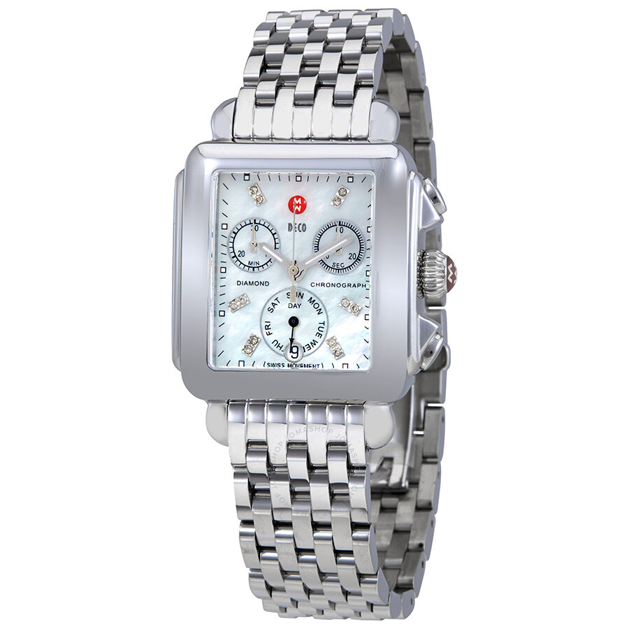 6fc6fd3595d Michele Deco Chronograph Mother of Pearl Dial Ladies Watch