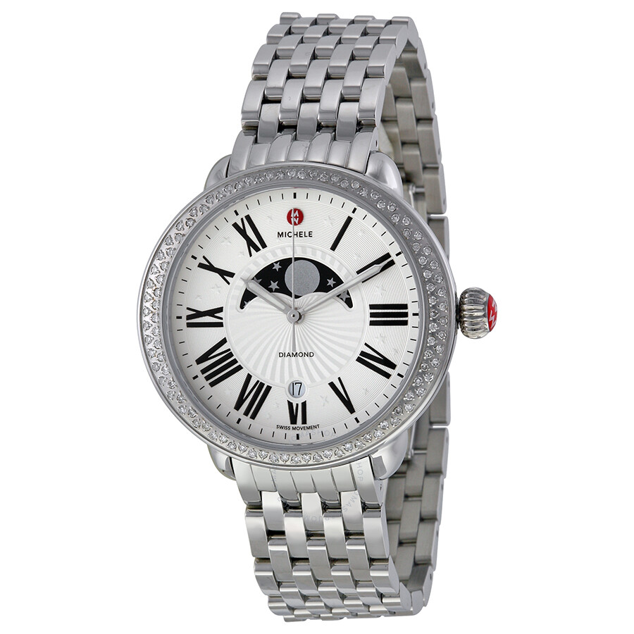 Michele Serein Diamond Matte Moon And Star Dial Ladies Watch Mww21d000002