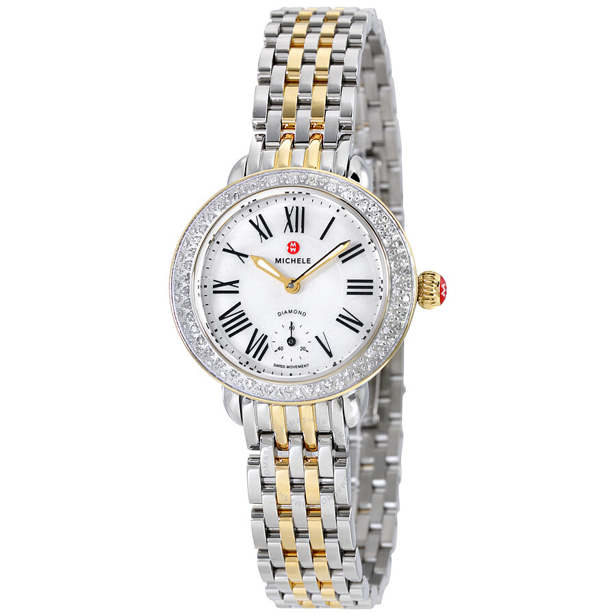 michele serein of pearl stainless steel and