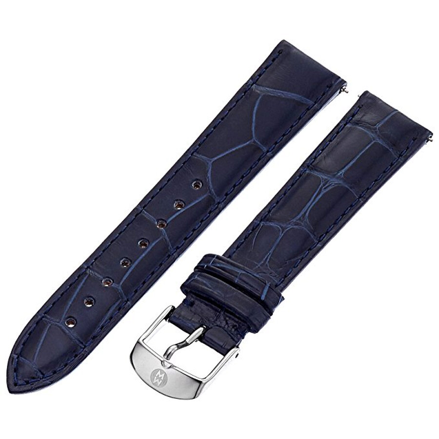 ab480c173 Michele Sidney 18mm Navy Alligator Watch Strap MS18AA010400 - Watch ...