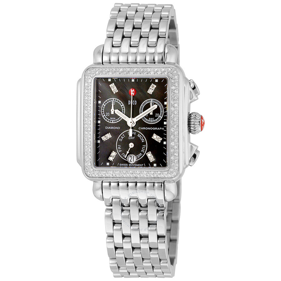 Michele Diamond Dial Watch