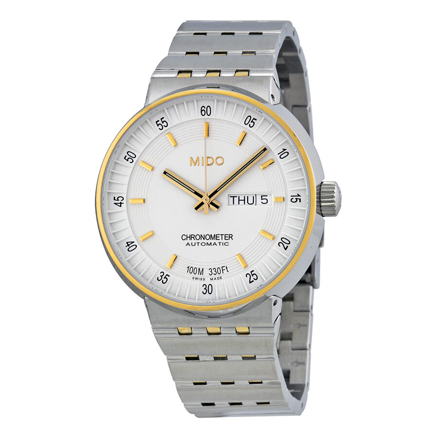 Mido All Dial Chronometer Automatic White Cream Dial Two ...
