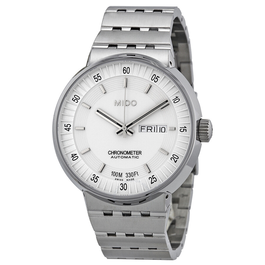 Mido All Dial Chronometer Automatic White Dial Stainless ...