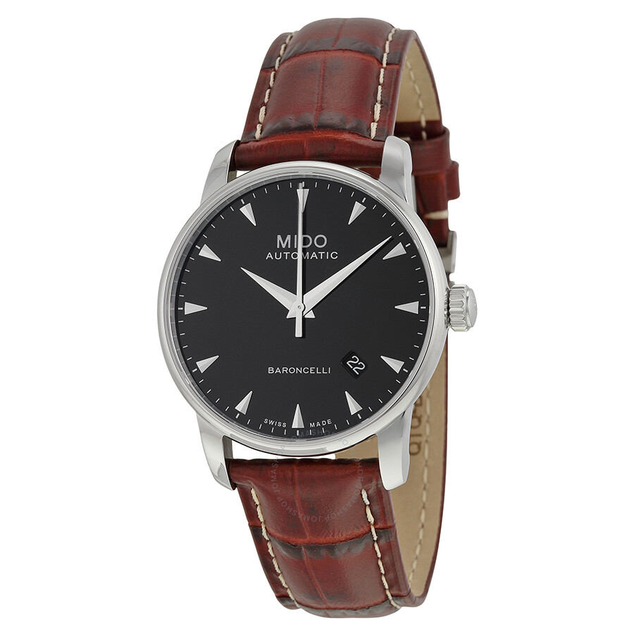Mido baroncelli automatic black dial men 39 s watch m86004188 baroncelli mido watches jomashop for Mido watches