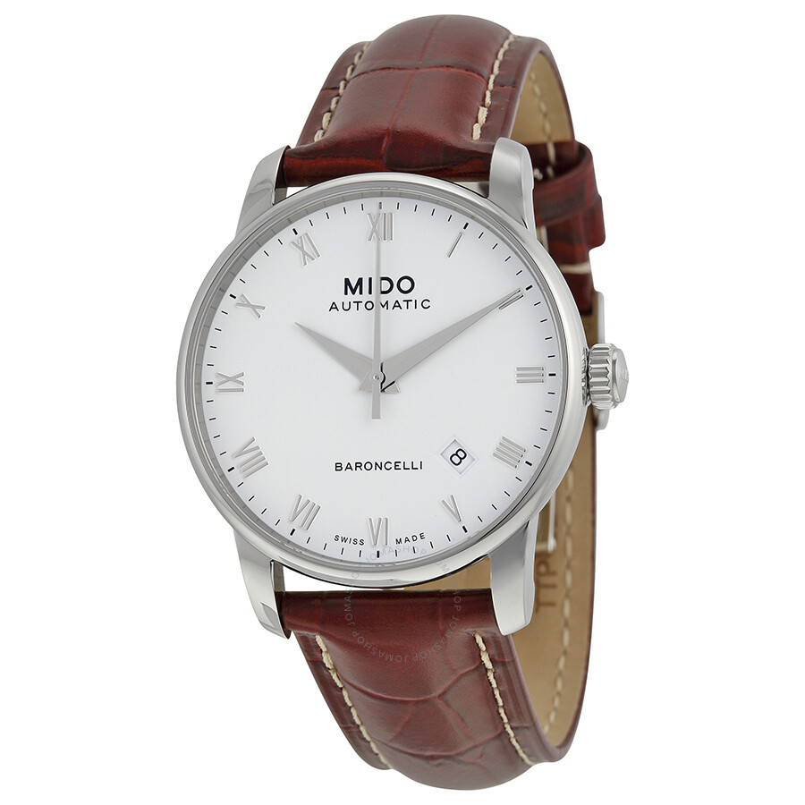Mido baroncelli automatic white dial men 39 s watch m86004268 baroncelli mido watches jomashop for Mido watches