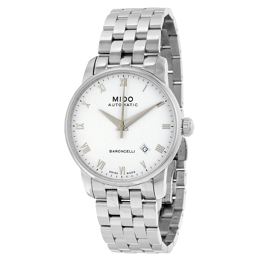 Mido Baroncelli Automatic White Dial Stainless Steel Men's ...