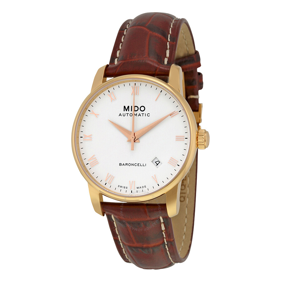 Mido baroncelli ii automatic white dial men 39 s watch m86002268 baroncelli mido watches for Mido watches
