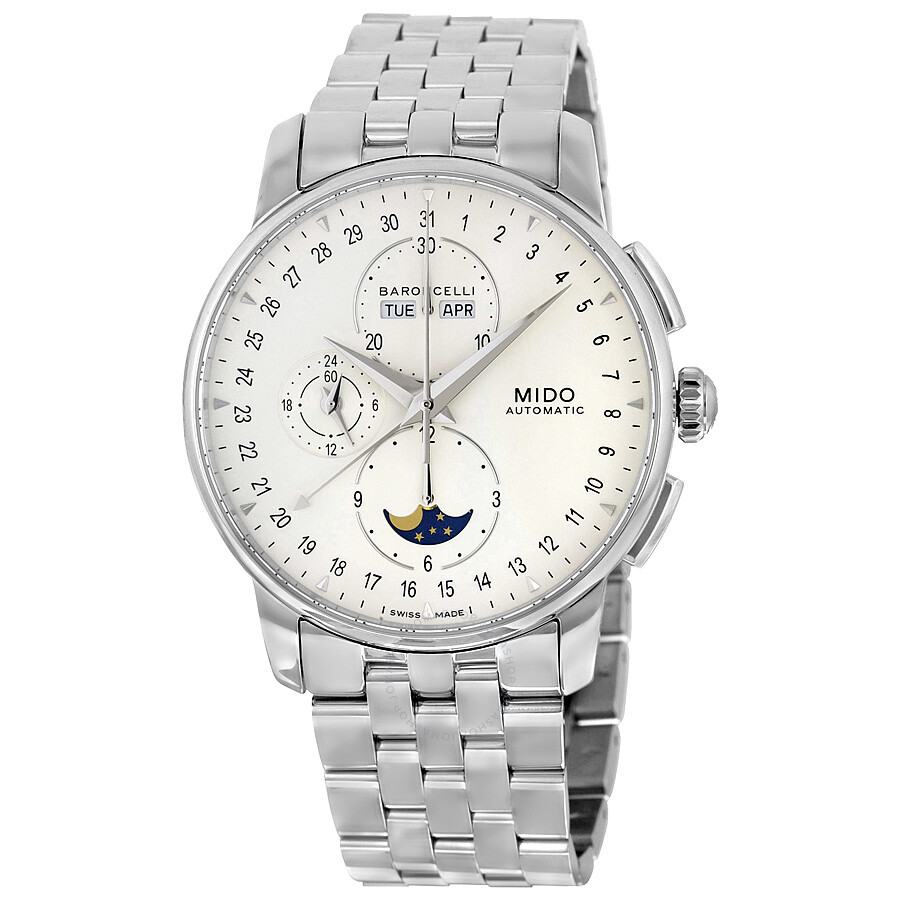 Mido baroncelli moonphase automatic men 39 s watch mido m86074m112 baroncelli mido watches for Mido watches