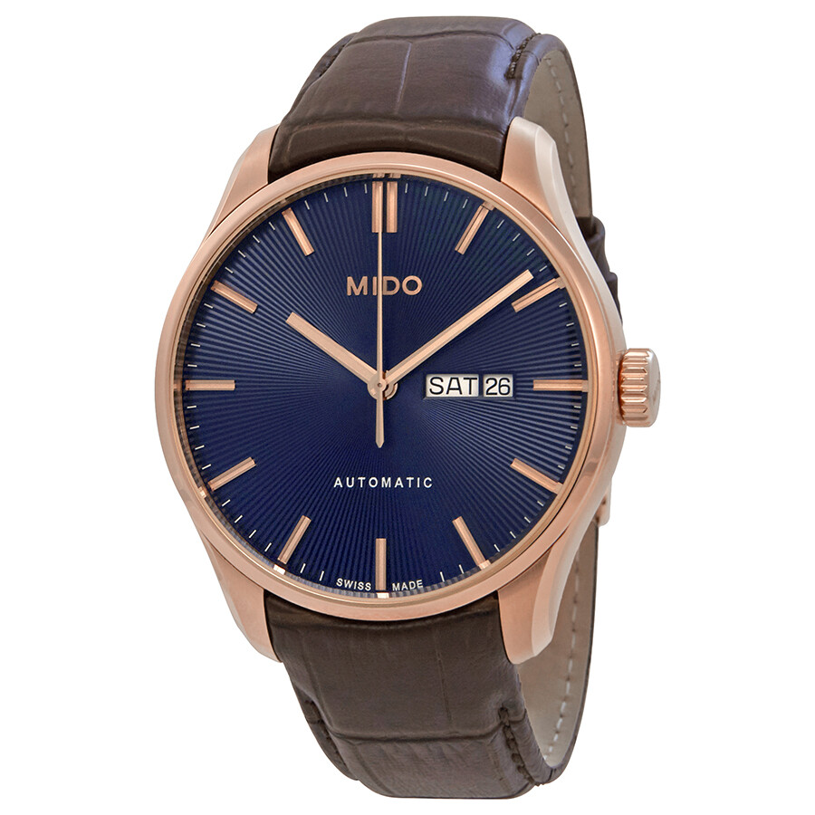 Mido belluna ii automatic blue dial men 39 s watch m0246303604100 belluna mido watches jomashop for Mido watches