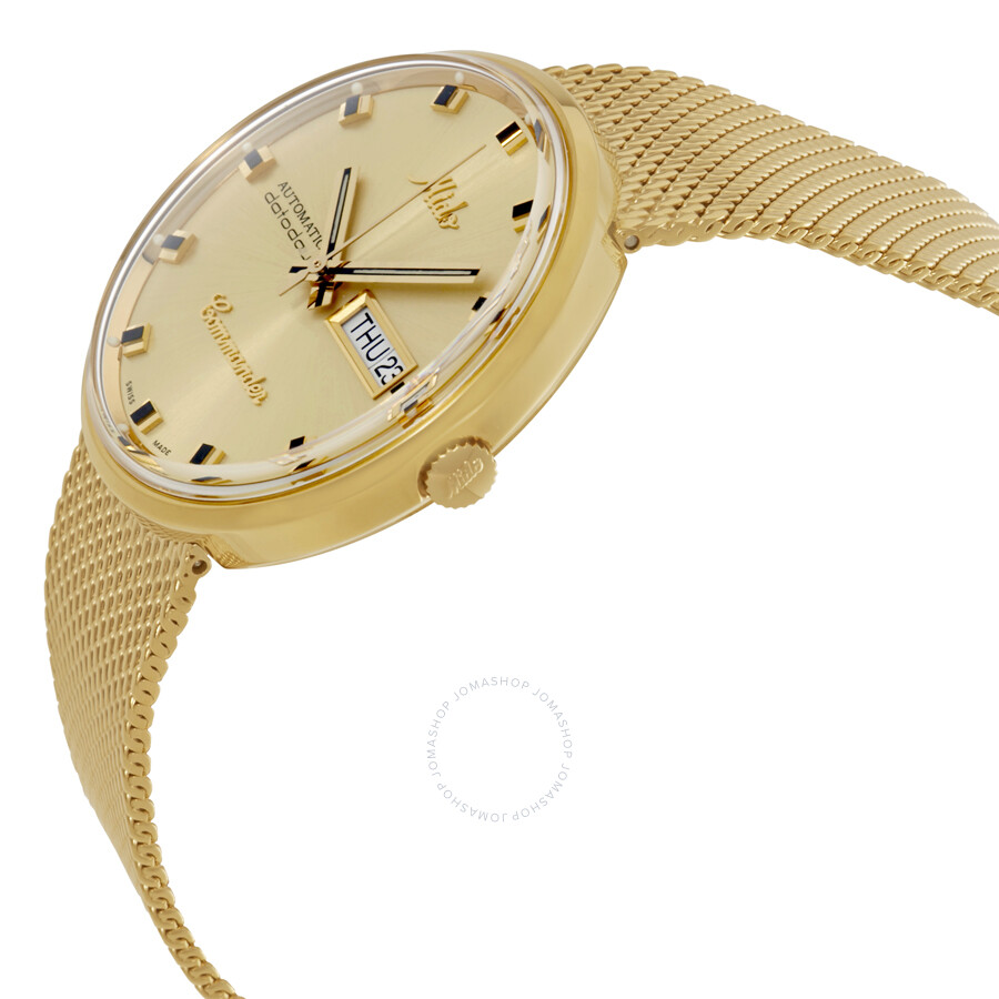 Mido commander i rose gold pvd 37 mm automatic unisex for Commander rose
