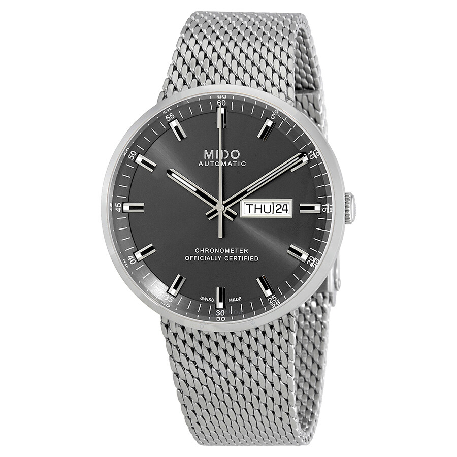 804fa794c950 Mido Commander II Automatic Anthracite Dial Men s Watch M031.631.11.061.00  ...
