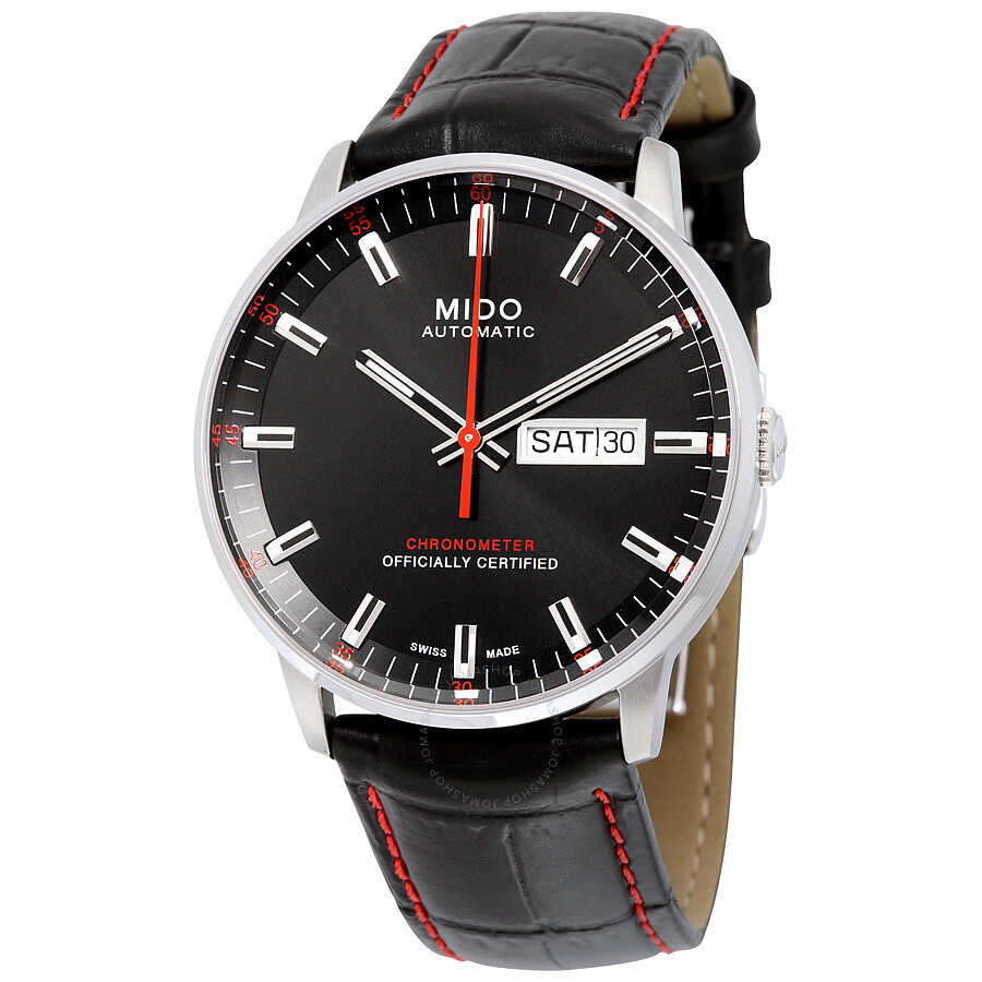 Mido commander ii automatic black dial men 39 s watch m0214311605100 commander mido watches for Mido watches