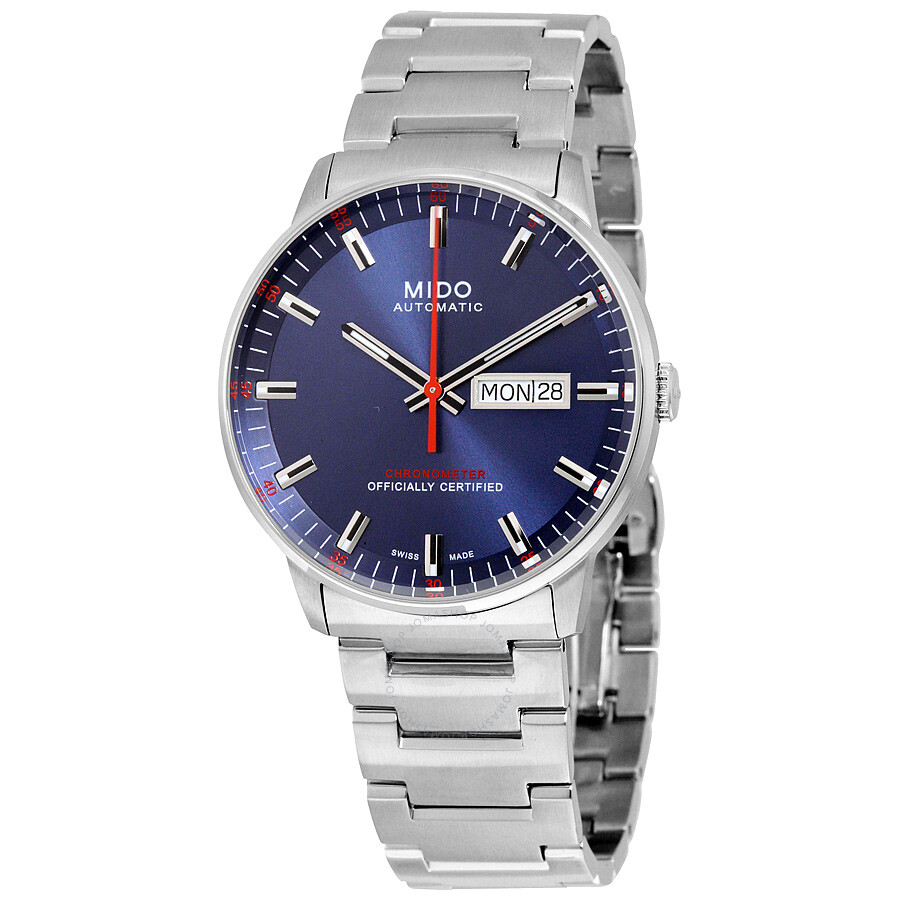 Mido commander ii automatic blue dial men 39 s watch commander mido for Mido watches
