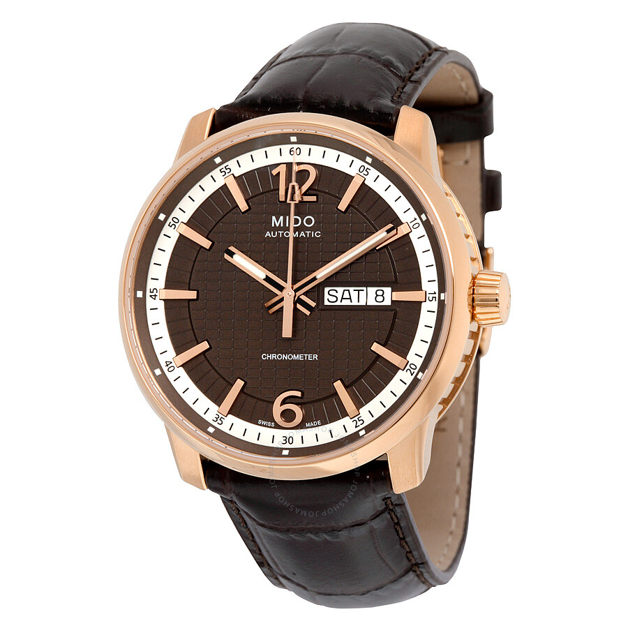 Mido Great Wall Black Dial Brown Leather Automatic Men 39 S