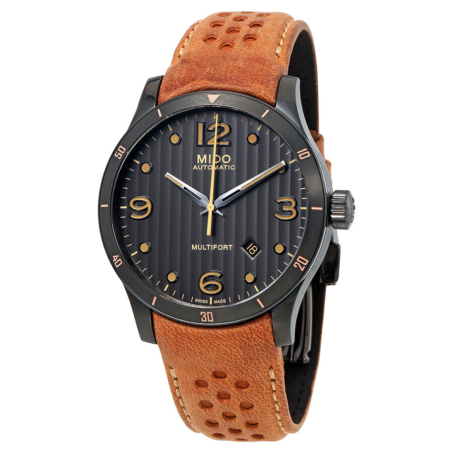 Mido multifort automatic anthracite dial men 39 s watch multifort mido for Mido watches