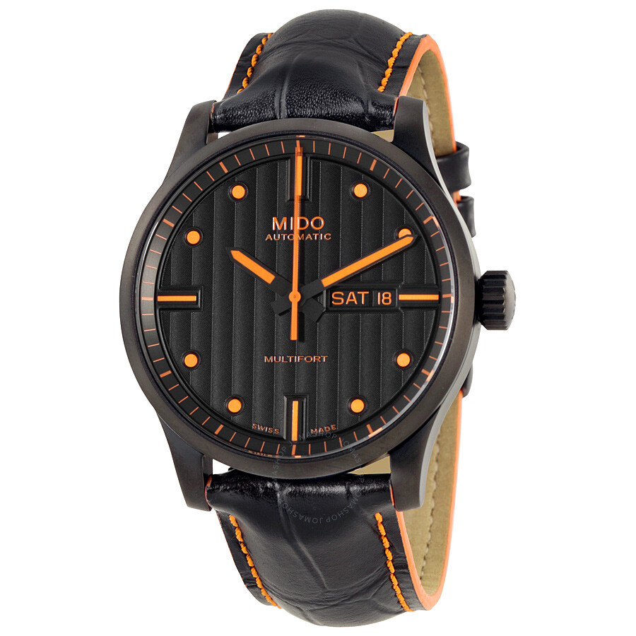 Mido Multifort Automatic Black Dial Black Leather Men's. Earring Beads. Rough Cut Engagement Rings. Top Necklace. Leaf Design Engagement Rings. Flash Watches. Elegant Watches. Prism Pendant. Anodized Rings