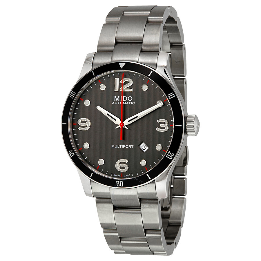 Mido multifort automatic black dial men 39 s watch multifort mido watches for Mido watches
