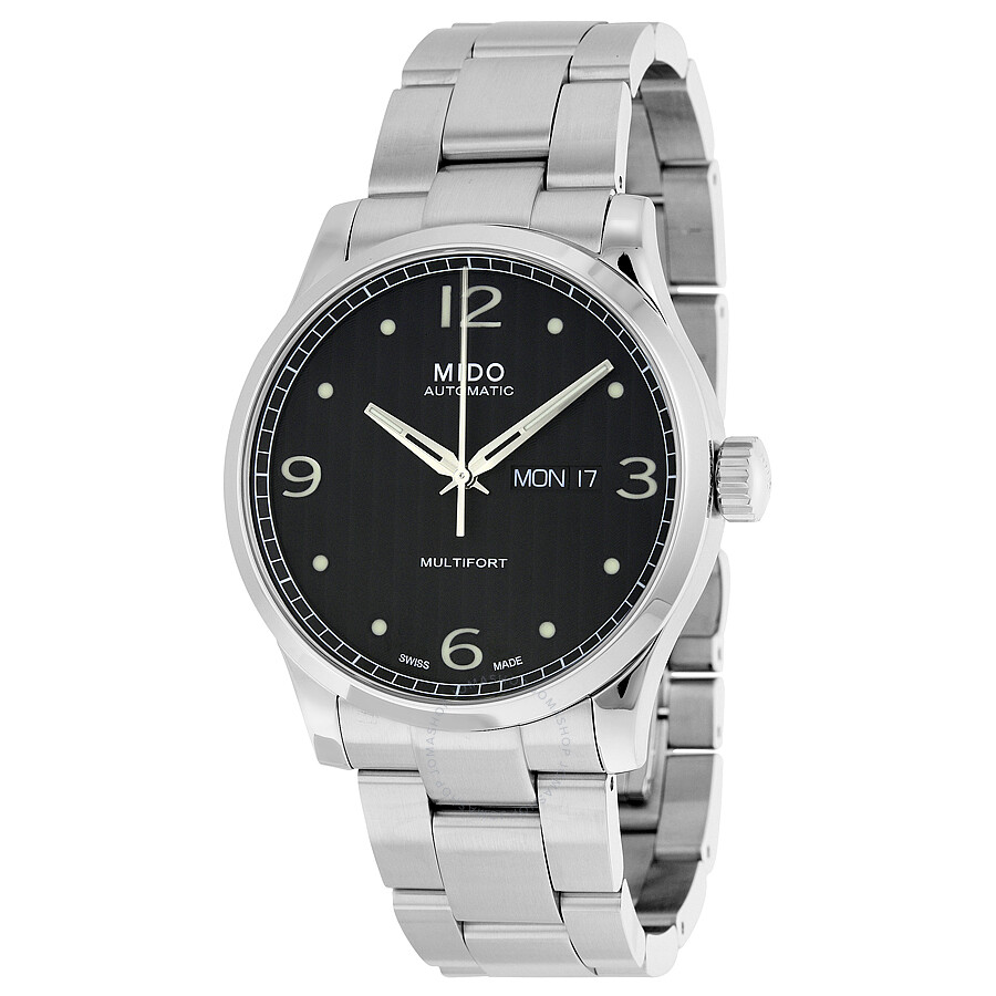Mido Multifort Automatic Black Dial Stainless Steel Men's Watch