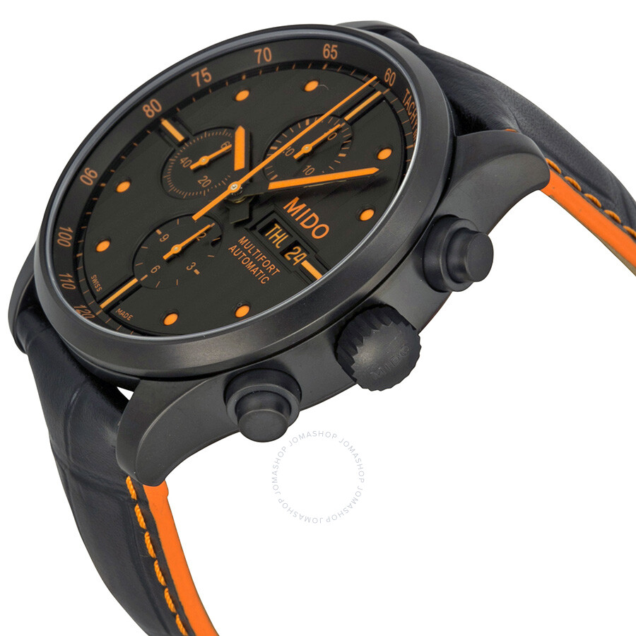 Leather Gmbh Contact Us Email Sales Mail: Mido Multifort Automatic Chronograph Black Dial Black