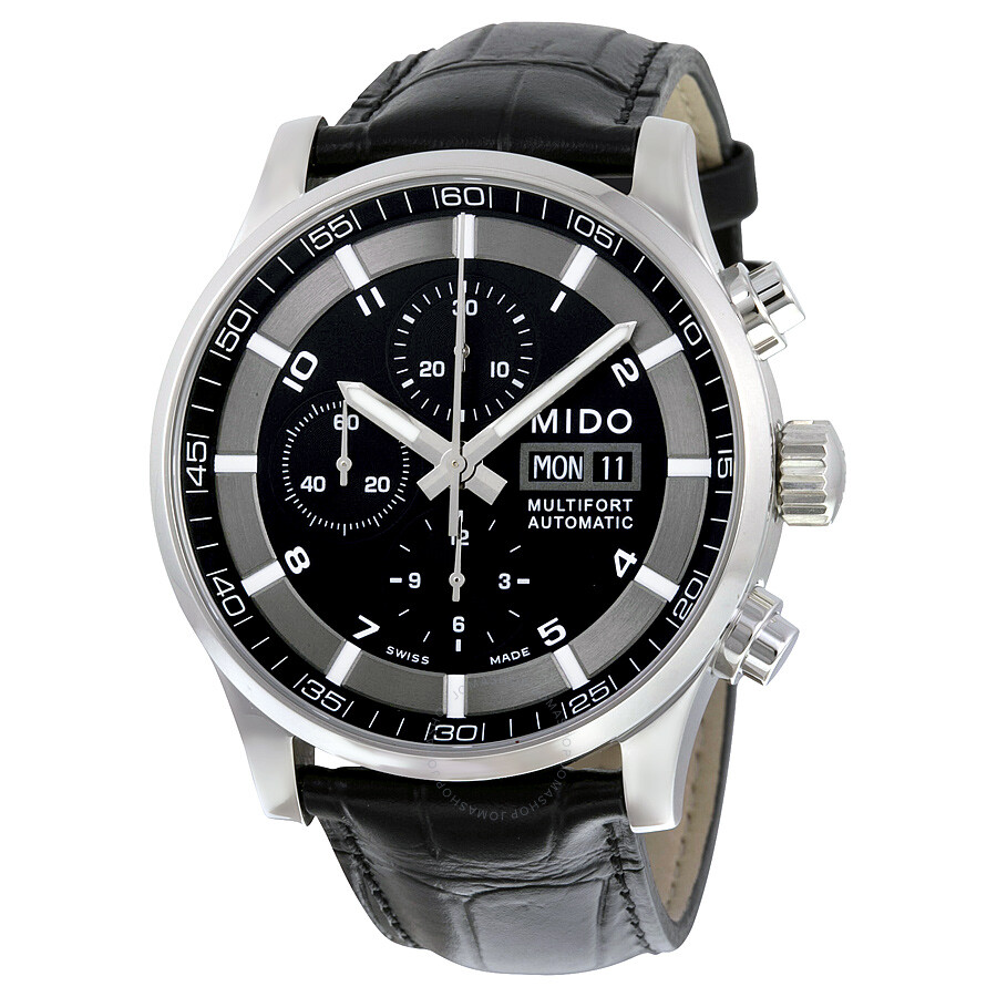 Mido multifort automatic chronograph men 39 s watch m0056141605721 multifort mido watches for Mido watches