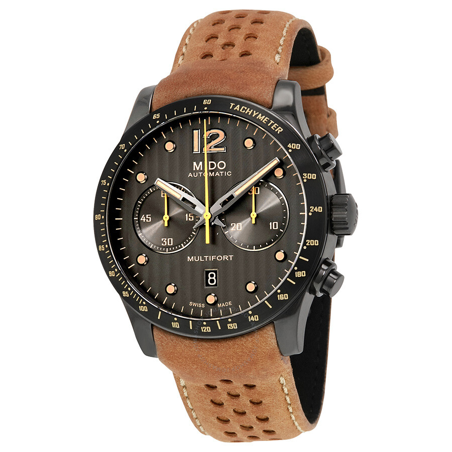 Mido multifort anthracite dial automatic men 39 s chronograph watch multifort for Mido watches