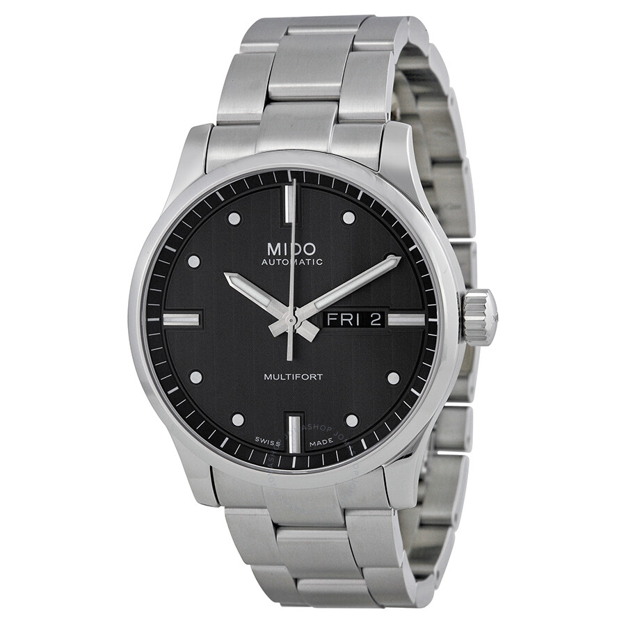 Mido multifort automatic dark grey dial men 39 s watch m0054301106100 multifort mido watches for Mido watches