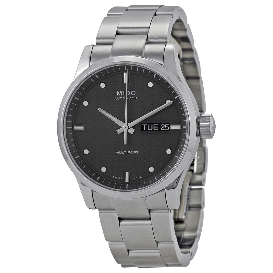 Mido multifort automatic grey dial men 39 s watch m0058301106100 multifort mido watches for Mido watches