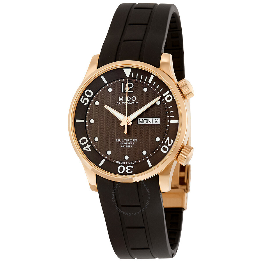 Mido multifort automatic men 39 s watch m0059303729000 multifort mido watches jomashop for Mido watches