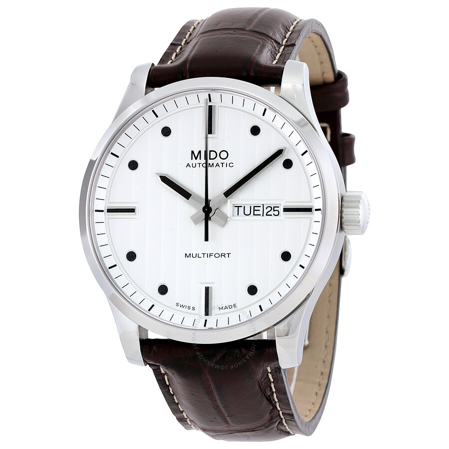 Mido multifort automatic silver dial watch multifort mido watches for Mido watches
