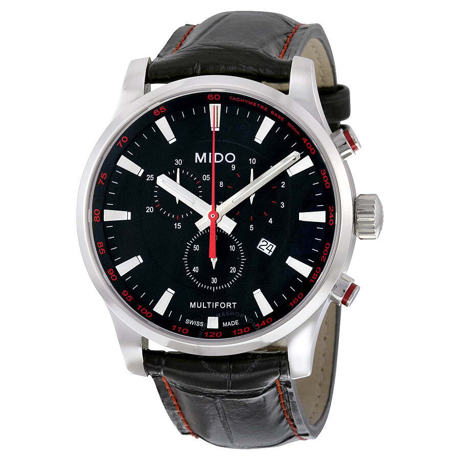 Mido multifort chronograph black dial men 39 s watch m0054171605120 multifort mido watches for Mido watches