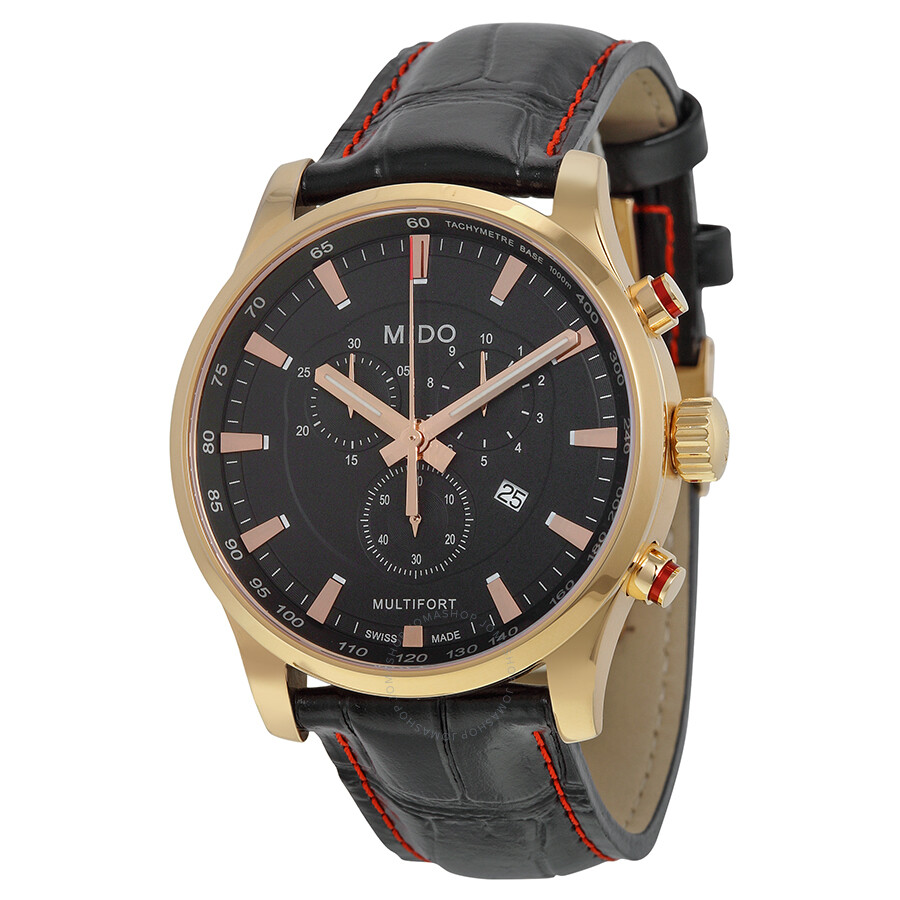 Mido multifort chronograph black dial men 39 s watch m0054173605120 multifort mido watches for Mido watches