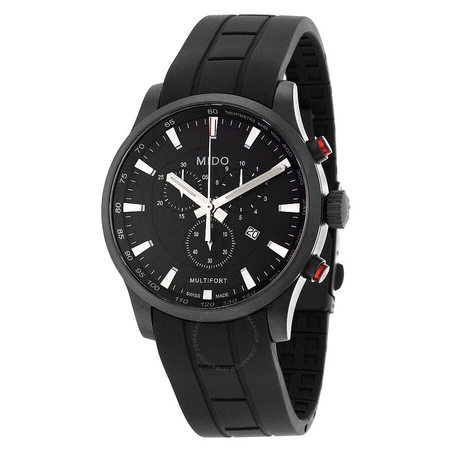 Mido multifort chronograph black dial men 39 s watch m0054173705120 multifort mido watches for Mido watches