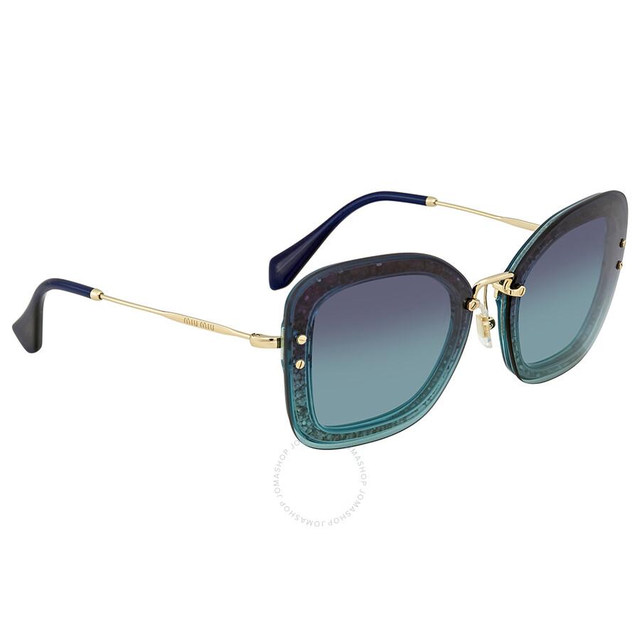 87191f9a8d5 Miu Miu Azure Gradient Dark Blue Sunglasses MU 02TS JZG5R2 65 - Miu ...